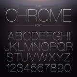 Fonte fina de Chrome Imagens de Stock