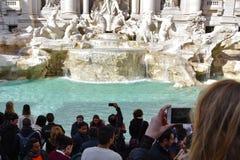 Fonte Fontana di Trevi do Trevi Foto de Stock