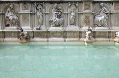 Fonte Gaïa, Sienne, Toscane, Italie Photos libres de droits