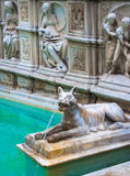 Fonte Gaia (Fountain of Joy), Piazza del Campo, Siena, Tuscany, Stock Photos