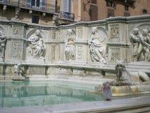 Fonte Gaia (Fountain of Joy)in Siena. Italy, Europe Stock Photo