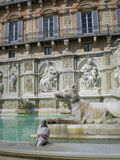 Fonte Gaia (Fountain of Joy)in Siena. Italy, Europe Royalty Free Stock Images
