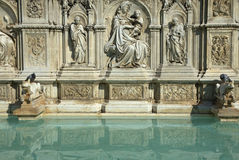 Fonte Gaia Fountain in Siena (Tuscany, Italy) Stock Photography