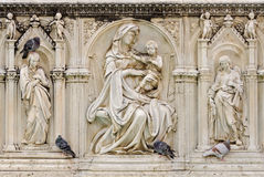 Fonte Gaia, Madonna and Child - Siena royalty free stock photo