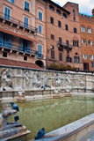 The Fonte Gaia in Piazza del Campo Royalty Free Stock Images