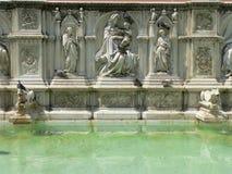Fonte Gaia, Siena (Italië) Stock Fotografie