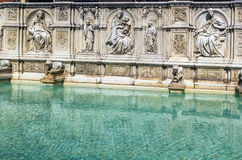 Fonte Gaia, Siena, Italy. Royalty Free Stock Photos