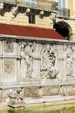 Fonte Gaia - Siena Toscana Italy Stockbild