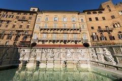 Fonte Gaia - Siena Toscana Italy Imagem de Stock