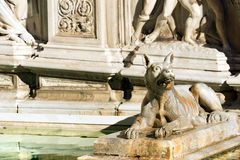 Fonte Gaia - Siena Toscana Italy Stock Photo