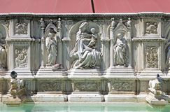 Fonte Gaia, Siena, Tuscany, Italy Stock Photography