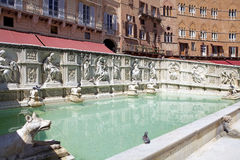 Fonte Gaia, Siena, Tuscany, Italy Royalty Free Stock Photography