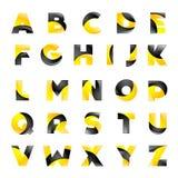 Fonte gialla e nera creativa per il vostro Fotografia Stock