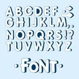 Fonte gráfica Fonte feito a mão de Sans Serif, linhas finas Alfabeto tirado mão da rotulação da caligrafia Ilustração do vetor le Foto de Stock Royalty Free