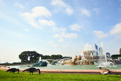 Fonte Grant Park Chicago de Buckingham, Estados Unidos da América Fotos de Stock