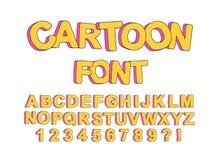 Fonte inglese del fumetto sveglio per la progettazione dei partiti dei bambini, creare le stampe e tipografia di una progettazion illustrazione di stock