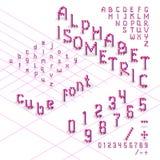 fonte isométrica do alfabeto 3d dos cubos Imagem de Stock