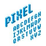Fonte isométrica do pixel 3d Imagem de Stock