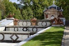 Fonte, jardim de San Ildefonso, Espanha imagem de stock