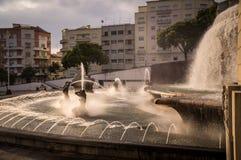 Fonte Luminosa on Alameda Park, Lisbon, Portugal. Fonte Luminosa luminous fountain on Alameda Park, Lisbon, Portugal Royalty Free Stock Photos