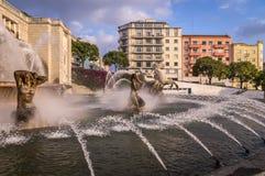 Fonte Luminosa auf Alameda-Park, Lissabon, Portugal lizenzfreies stockfoto