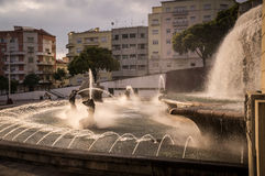 Fonte Luminosa auf Alameda-Park, Lissabon, Portugal lizenzfreie stockfotos