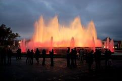 Fonte mágica de Barcelona Fotos de Stock Royalty Free