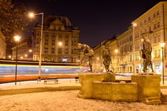 Fonte, músicos checos Foto de Stock