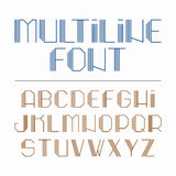 Fonte Multiline, alfabeto Imagem de Stock