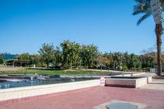 Fonte musical Eilat em Gan Binyamin Central Park foto de stock royalty free