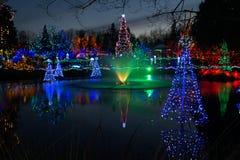Fonte na estação do Natal Fotografia de Stock Royalty Free