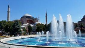 Fonte na frente de Hagia Sófia, Istambul fotografia de stock royalty free