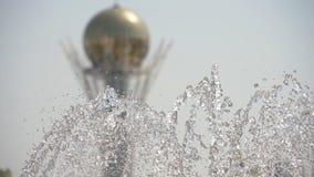Fonte na Nur-sultão, capital de Cazaquistão video estoque