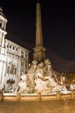 Fonte na praça Navona em Roma Fotos de Stock