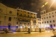 Fonte na praça Navona em Roma Foto de Stock