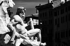 Fonte na praça Navona em Roma Imagens de Stock