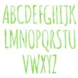 Fonte naturale di verde disegnato a mano dell'acquerello Immagine Stock Libera da Diritti