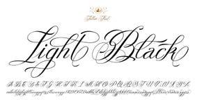 Fonte nera leggera del tatuaggio Immagini Stock Libere da Diritti