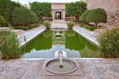 Fonte no Alcazaba de Almeria andalusia imagens de stock royalty free
