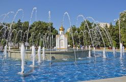 A fonte no centro de Anapa Foto de Stock Royalty Free
