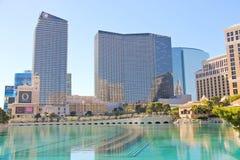 Fonte no hotel de Bellagio em Las Vegas Fotos de Stock