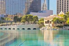 Fonte no hotel de Bellagio em Las Vegas Foto de Stock Royalty Free