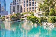 Fonte no hotel de Bellagio em Las Vegas Fotografia de Stock Royalty Free