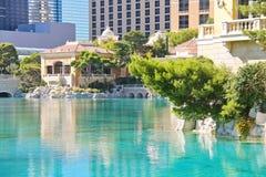 Fonte no hotel de Bellagio em Las Vegas Imagens de Stock Royalty Free
