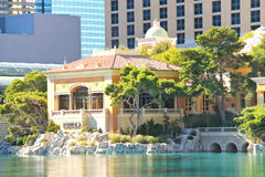 Fonte no hotel de Bellagio em Las Vegas Fotografia de Stock
