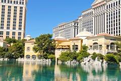 Fonte no hotel de Bellagio em Las Vegas Imagem de Stock Royalty Free