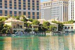 Fonte no hotel de Bellagio em Las Vegas Foto de Stock