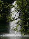 Fonte no lago em Sigueiro Fotografia de Stock