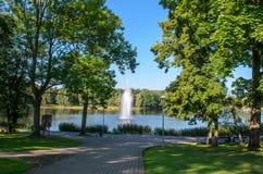 Fonte no parque da cidade Fotografia de Stock Royalty Free