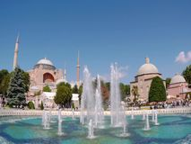 Fonte no quadrado de Sultanahmet, Istambul, Turquia filme
